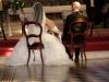 Béatrice et Michel pendant la cérémonie religieuse à Saint Jean d\'Angély